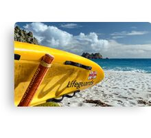 Porthcurno Surfboard Canvas Print