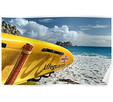 Porthcurno Surfboard Poster