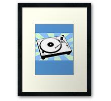 Retro Record Player by Chillee Wilson Framed Print