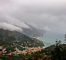 Fog rolling off the hills, Amalfi Coast, from Ravello, Campania, Italy by Andrew Jones