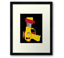 Retro Space Ray Gun by Chillee Wilson Framed Print