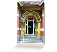 Doorway to Old Town Hall Greeting Card