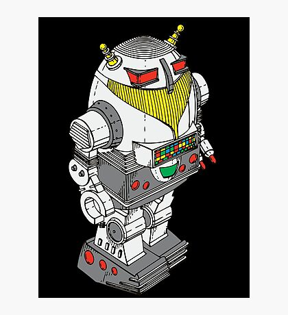 Retro Robot  by Chillee Wilson Photographic Print