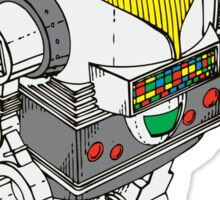 Retro Robot  by Chillee Wilson Sticker