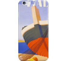 Summer in Italy Vintage Poster Restored iPhone Case/Skin