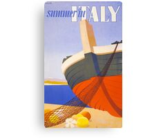 Summer in Italy Vintage Poster Restored Canvas Print