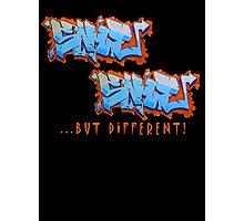 Graffit Tees 2... SAME SAME... Photographic Print