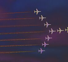 Red Arrows with a diference by Len Slack