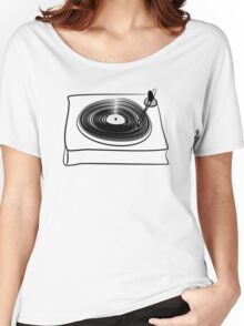 Retro Record Player by Chillee Wilson Women's Relaxed Fit T-Shirt