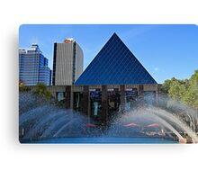 Edmonton City Hall and fountains  Canvas Print