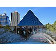 Edmonton City Hall and fountains  Photographic Print