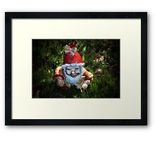 One of these creepy looking garden gnomes Framed Print