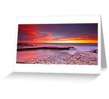 Sunset storm Greeting Card