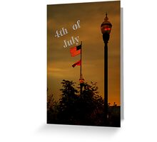 That star-spangled banner yet wave 4th of july Greeting Card