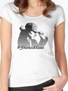 #SherlockLives Women's Fitted Scoop T-Shirt