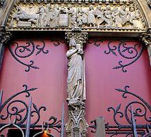 Notre Dame, Paris, side entrance detail by BronReid