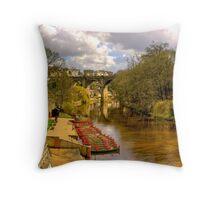 Knaresborough Viaduct Throw Pillow