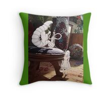 Alice and the Caterpillar Throw Pillow