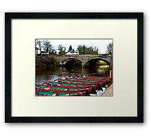 Boating on the River Nidd  Framed Print