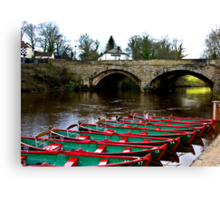 Boating on the River Nidd  Canvas Print