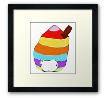 Icecream Hat Framed Print