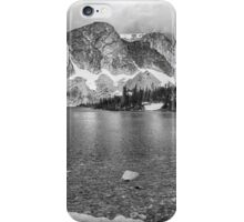 Medicine Bow Lake View in Black and White iPhone Case/Skin
