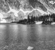 Medicine Bow Lake View in Black and White Sticker