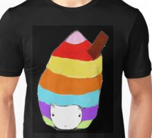 Icecream Hat tee in black Unisex T-Shirt