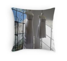 couture for ghosts Throw Pillow