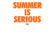Summer IS Serious | Orange Photographic Print