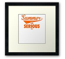Summer IS Serious Script | Orange Framed Print