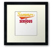 Summer IS Serious Script | Gradient Framed Print