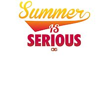 Summer IS Serious Script | Gradient Photographic Print