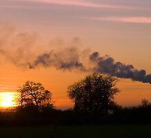 Westbury Chimney stack at Sunset by buttonpresser