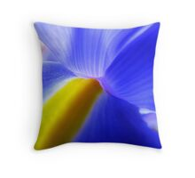 eye of the iris Throw Pillow