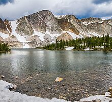 Medicine Bow Lake View by Bo Insogna