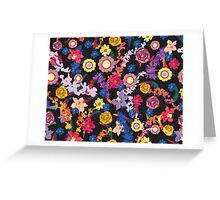 Blooming flowers Greeting Card