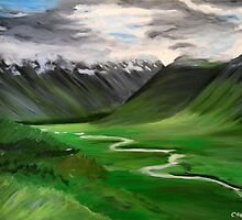 Iceland. 30 x 24 Acrylic Painting by csoccio100
