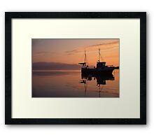 Fishing boat in Norway Framed Print