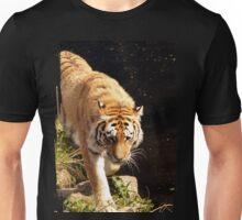 Tiger walking on river bed Unisex T-Shirt