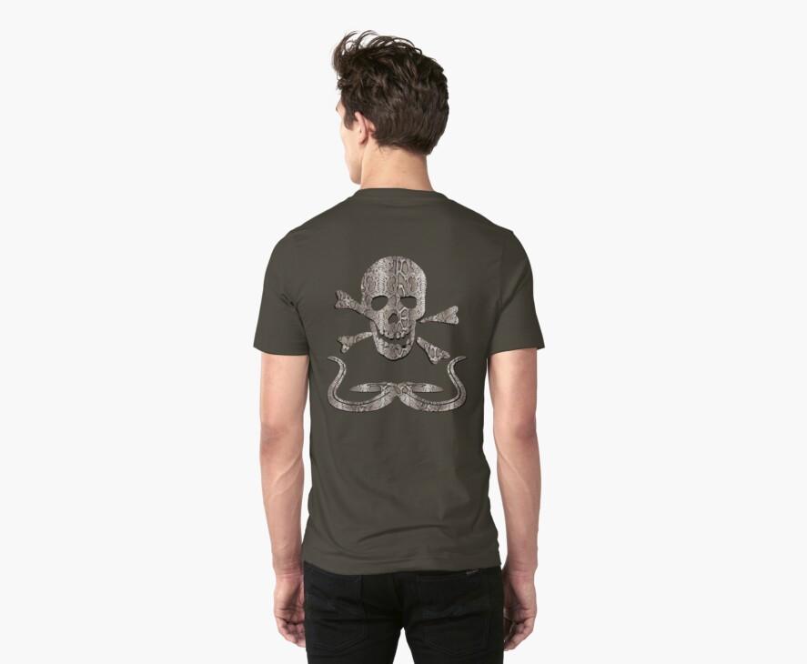 Snakeskin Skull T Shirt by simpsonvisuals