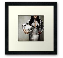 Crystal ball Framed Print