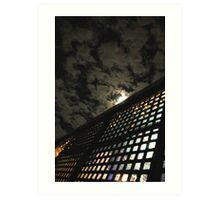 noisy night Art Print