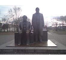 Marks and Engels statue in Berlin Mitte Photographic Print