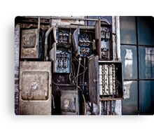 Urban Decay - Fuse Box Canvas Print
