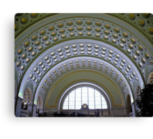 Washington DC - Union Station - Series - Vaulted Ceilings  *framed print sold Canvas Print