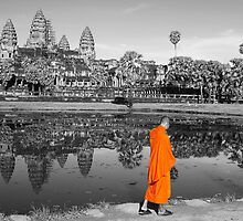 MONOCHROME - Angkor, with just a hint of Saffron by Brad Spencer