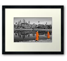MONOCHROME - Angkor, with just a hint of Saffron Framed Print