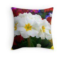 First primroses Throw Pillow