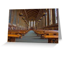 Suzzallo Library (University of Washington) (NON HDR version) Greeting Card